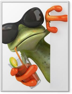 Gerahmtes Poster Frog-und Feiertagen