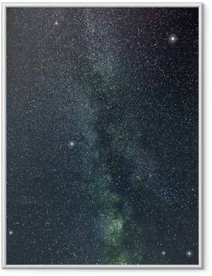 milky way stars Framed Poster