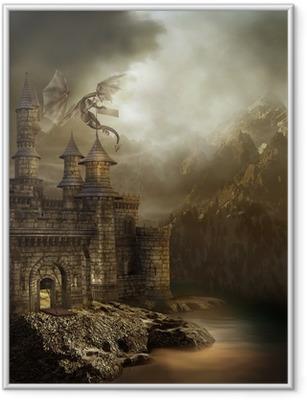 Poster in Cornice Castello in montagna