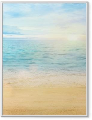 Çerçeveli Poster Deniz ve kum arka plan
