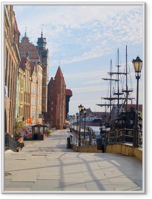 Embankment of Motlawa river, Gdansk Framed Poster