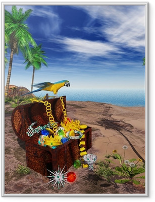 3D - EGN - Treasure - Pirate Framed Poster