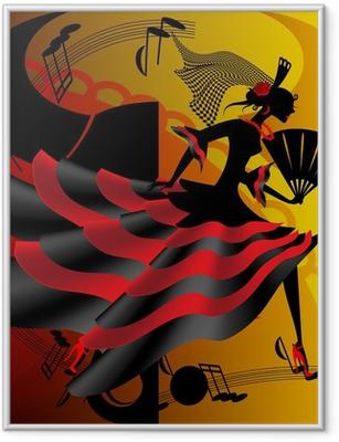 Spanish dance Framed Poster
