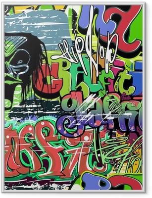 Poster en cadre Mur de graffiti seamless vecteur