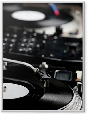 Poster en cadre Platine - Musique