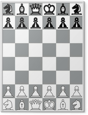 Gerahmtes Poster Schachbrett