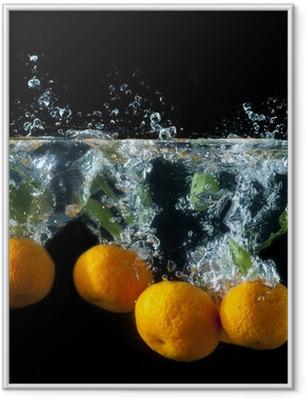 Ingelijste Poster Oranje splash