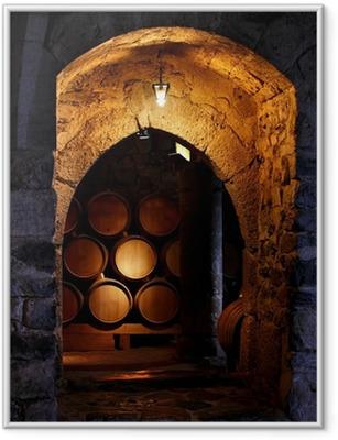 Poster en cadre Baril de vin dans winerry.