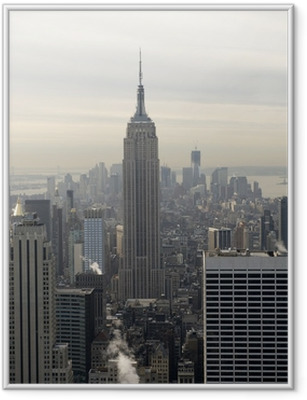 Plakat w ramie Empire State Building