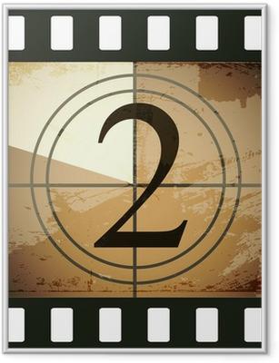 Gerahmtes Poster Grunge film countdown