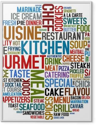 Gerahmtes Poster Gourmet und Küche