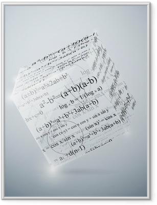 Gerahmtes Poster Mathematische Würfel