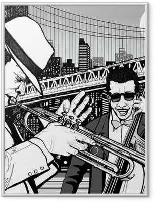 Jazz i New York Indrammet plakat