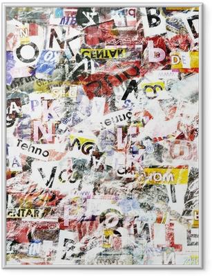 Poster en cadre Grunge Textured Background