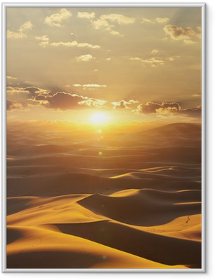 Innrammet plakat Ørken