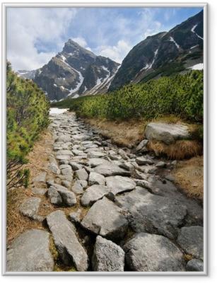 Polske Tatra bjerge Indrammet plakat