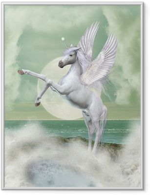 Ingelijste Poster Unicorn