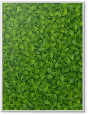 Gerahmtes Poster Grüne Blätter Textur