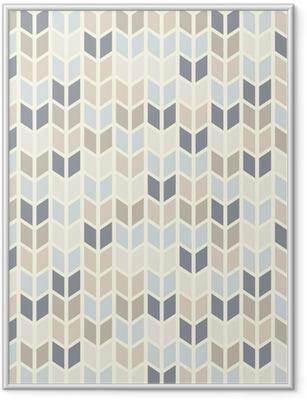 Gerahmtes Poster Nahtlose geometrische Muster in Pastelltönen