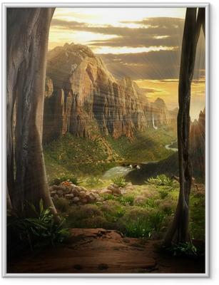 Ingelijste Poster Phantasy Landscape