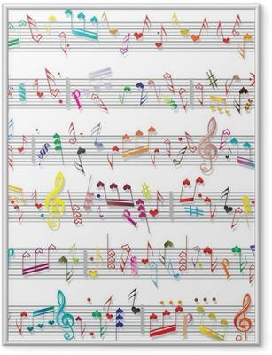 Poster in Cornice Musica nota tessuto sonoro