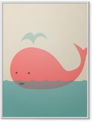 Poster en cadre Whale Mignon