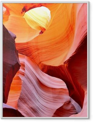 Gerahmtes Poster Der Antelope Canyon, Page