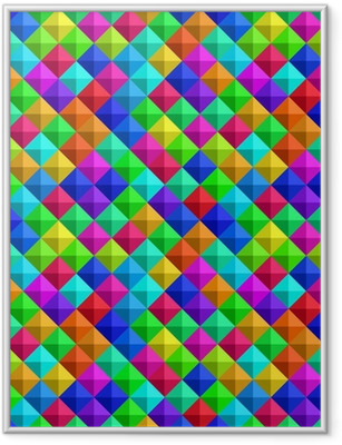 Bold Colorful 3-d Background Framed Poster