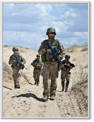 Patroling the desert Framed Poster