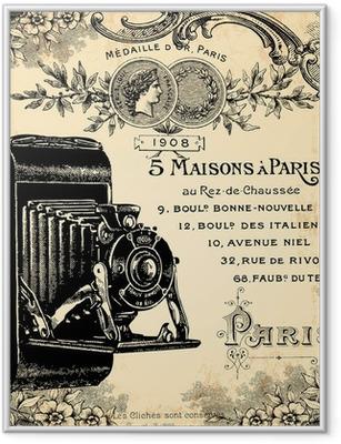Gerahmtes Poster Fotograf 1900