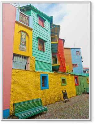 Poster in Cornice Colorful La Boca, Buenos Aires