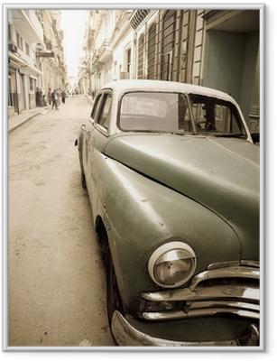 Plakat w ramie Kubańska antyczny samochód