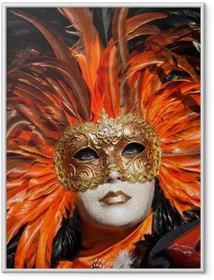 vVenice Carnival Framed Poster