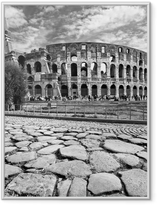 Gerahmtes Poster The Majestic Coliseum, Rome, Italy.