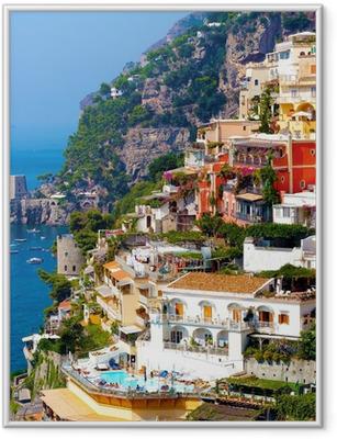 Gerahmtes Poster Positano, Italien. Amalfiküste