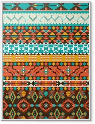 Ingelijste Poster Naadloze navajo geometrisch patroon