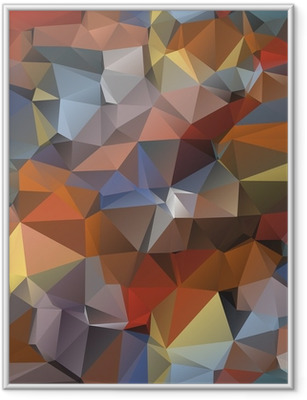 Geometric pattern, triangles background. Framed Poster
