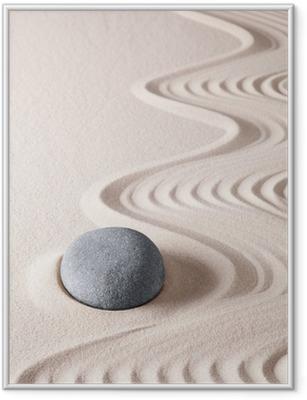 Póster com Moldura zen meditation stone