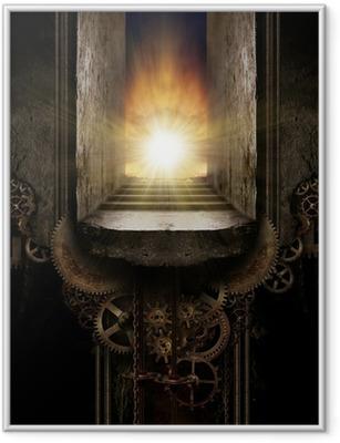 Gerahmtes Poster Steampunk Hintergrund