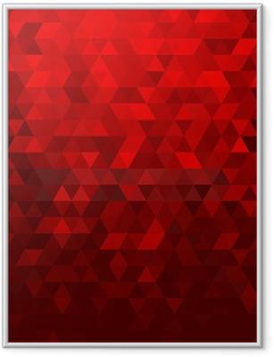 Ingelijste Poster Abstracte rode mozaïekachtergrond