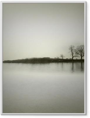 Landscape in sepia tones Framed Poster