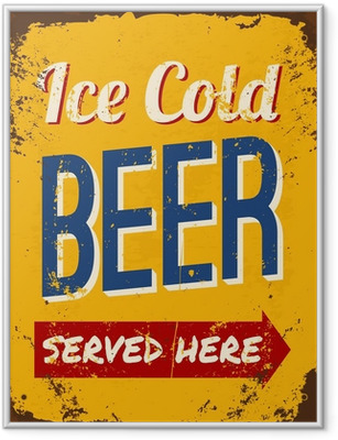 Vintage oluen tin merkki Kehystetty juliste