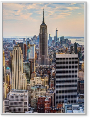 Poster i Ram New York City på skymningen