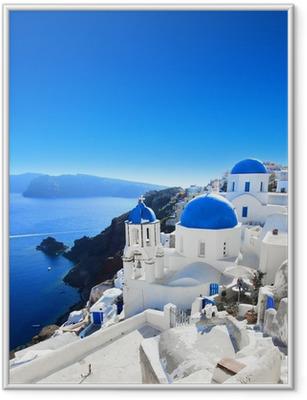 Póster Enmarcado Grecia - Santorini (Oia village)