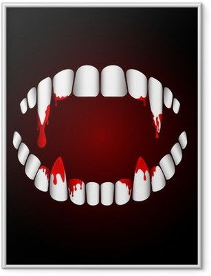 Poster en cadre Dents de vampire