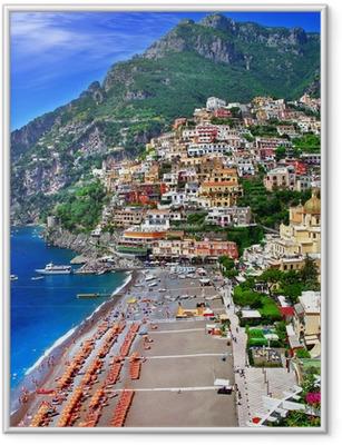 Naturskønne Italien - Positano Indrammet plakat