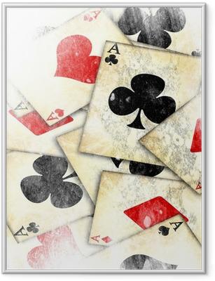 Poster in Cornice Vecchia carta da gioco