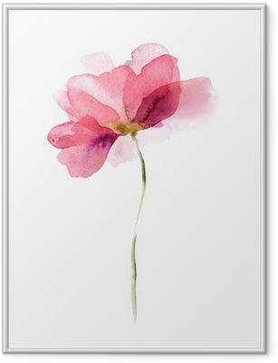 Watercolor flower Framed Poster