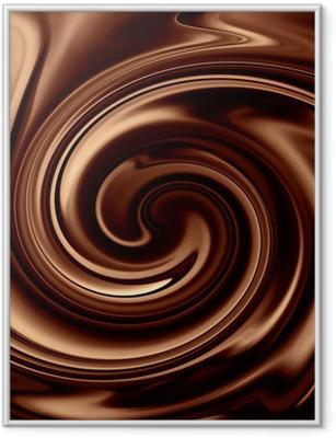 Poster i Ram Choklad bakgrund