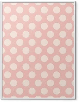 seamless polka dots grunge texture Framed Poster